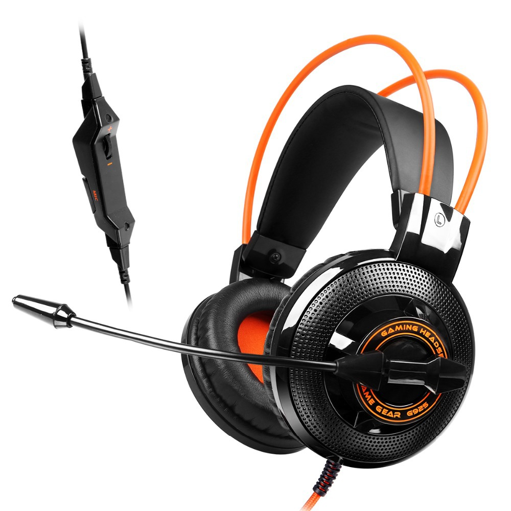G925 High Quality Gaming Headset Studio Wire Earphones Computer Stereo Deep Bass Over-Ear Headphone With Microphone For Pc Gamer<br>