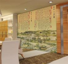 3d wallpaper custom photo non-woven mural wall sticker ancient Chinese paintings porch livingroom backdrop wall murals wallpaper