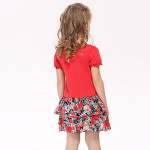 Kid dresses for children 2-6 years fashion Rose red kids wear, s vestidos infantis de birthday dresses for baby girls clothes