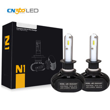 CN360 2PCS H1 LED Car Headlight All In One Mini Size 50W 8000Lumens LED Auto Head Lamp Fog Light Bulb 6000k Plug & Play