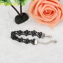 Diomedes HOT Lovely  Chic Personality Hollow Black Lace Daisy Bracelet Women Jewelry Bracelet Luxury and Casual Bracelet