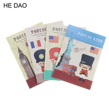 Cute British Soldiers Soft Cover Mini Notebook Diary Pocket Notepad Promotional Gift Stationery Caderno Escolar School Notebook(China)