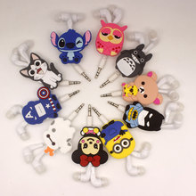 2017 New Cartoon 3.5mm In-Ear Earphone Headset Wired Avenger Batman Superman Stitch Cheese cat for mp3 mp4(China)