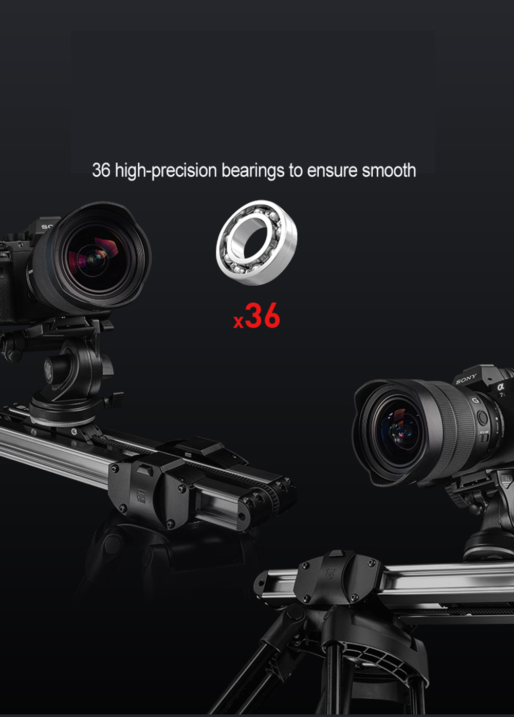 Portable Micro 2 Professional Camera Video Slider Travel Track Slider Dolly Track Rail for DSLR ARRI Mini RED BMCC  Iphone X  7