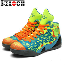 Keloch 2017 Unisex Basketball Sport Shoes For Men Women Outdoor Breathable High Ankle Basketball Boots Basket Femme Size 36-46