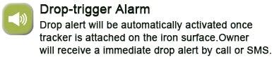 drop alarm