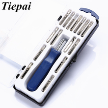 Tiepai 16 in1 Multi-purpose Precision Magnetic Screwdriver Set with Torx Hex Cross Flat Y Star Screw Driver for Phone Pc Glasses