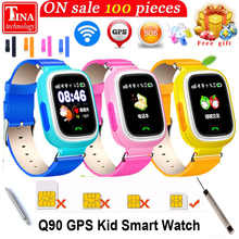 GPS Q90 Smartwatch Touch Screen WIFI Positioning Children Smart Wrist Watch Locator PK Q50 Q60 Q80 for Kid Safe Anti-Lost(China)