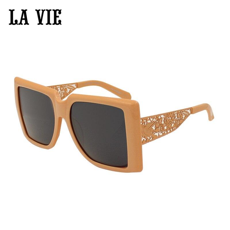 LA VIE 2017 New Hollowed-out Orange Plastic Sunglasses For Women Fashion Square Sunglasses gafas de sol del ms zonnebril 1301483<br><br>Aliexpress