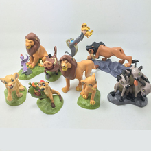 9pcs/set  action figure The lion king simba Mufasa Timon Nala Rafiki Zazu Pumbaa Scar New PVC cartoon figure anime figure toys