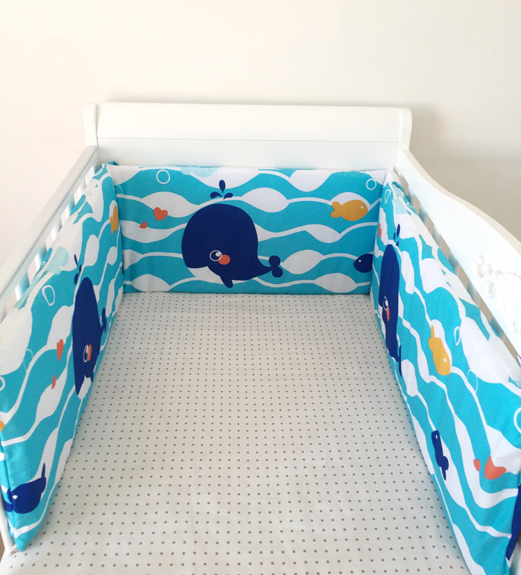 250*28 CM Baby Bumper Detachable Comfort  Baby Bed Bumper Cotton Cartoon Animal Pattern Crib Decorations Baby Bed Bumper Bedding<br>
