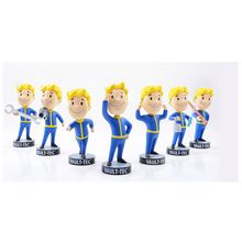 Gaming Heads Fallout 4 Vault Boy TOY Bobbleheads Series 1 PVC Action Figure For Kid Christmas  DOLL