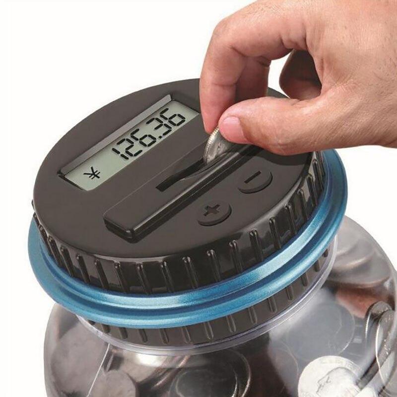 Usd Electronic Counting Large Money Bo Saving Coin Bank Digital Led Showing Jar Piggy