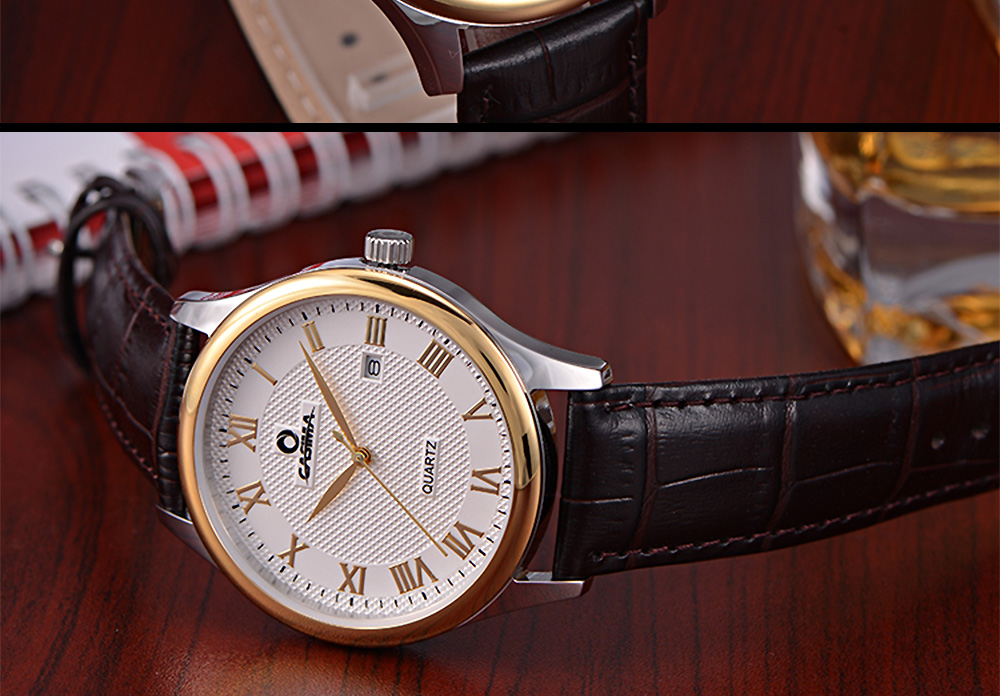 ساعة يد رجالية جلد 11