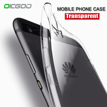 OICGOO Soft TPU Transparent Phone Case For Huawei P10 Plus P9 P8 Lite 2017 Clear Cases For Huawei P10 P10 Lite Honor 8 lite Case(China)