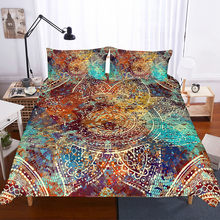 Fanaijia Mandala Bedding Set queen Size multicolor Bohemian Duvet Cover Set full size bed set(China)