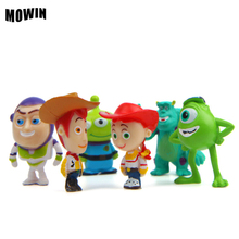 MOWIN 6pcs/lot Full Collection Toy Story 3 Movie Toy Set Woody&Jessie&Buzz Lightyear&Slinky Dog&Hamm Rex Figure Anime Action