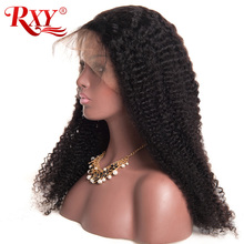 RXY Glueless Lace Front Human Hair Wigs for Black Women Kinky Curly Wig with Baby Hair Brazilian Wigs Pre Plucked None Remy Hair