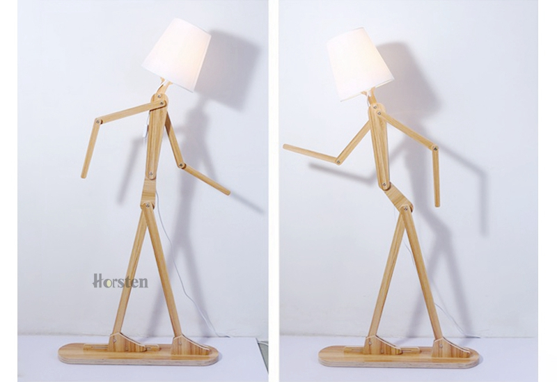 Japanese Style Creative DIY Wooden Floor Lamps Nordic Wood Fabric Stand Light For Living Room Bedroom Study Art Deco Lighting E27 (18)