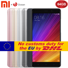 Original Xiaomi Mi 5S Plus 4GB 64GB Cell  Phone Mobile Phone Snapdragon 821 Quad Core 1920x1080 NFC Quick Charge