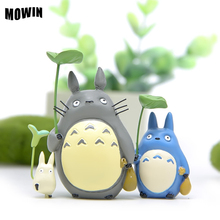 MOWIN Studio Ghibli Totoro Model Action Figures My Neighbor Totoro Figures juguete Japan Anime Toy Table Deco Resin Puppet Gifts