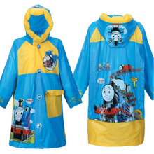 Rain Capes Ponchos Long Nylon Waterproof Raincoat Fabric For Children Rain Jacket Girls Cartoon Rainwear For Kids Baby Boy Coat