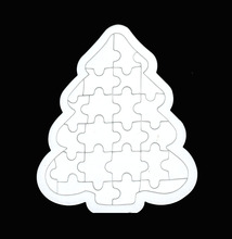 3D Paper jigsaw puzzles toys for children kids toys brinquedos Heart christmas trees puzzle educational Baby toys Puzles Puzzel(China)