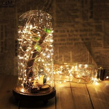 2pc 100 LED Night light String Flash Twinkle Copper String Lamp flashlight Christmas Party Garden Tree Decoration