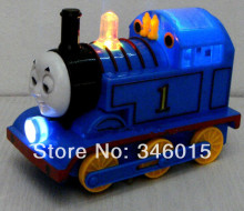 2014 Universal electric toy, Thomas train track toys, musical light-emitting locomotive, retail, wholesale, free shipping