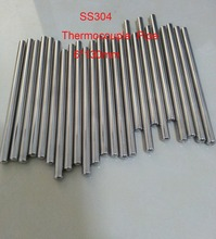 Customized 6*130mm One End Round Head Grade A Quality SS304 Thermowell Thermocouple Protection Tube  50 pcs / lot