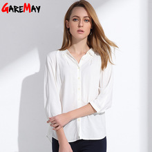 2017 Spring Blouses Women Females Loose Three Quarter Sleeve Doll Collar Lapel Bottoming Women's Shirts Blouses Blusas Clothing