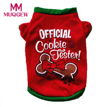 small dog pets Vest coat costume winter warm cotton coat jackets Christmas Cute red Clothing T shirt Jacket Apparel 2017 Autumn(China)