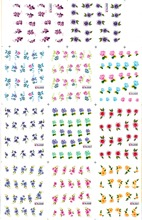 11 PACK/ LOT  WATER DECAL NAIL ART NAIL STICKER FLOWER CHINA ROSE JAPANESE HONEYSUCKLE BLE521-531
