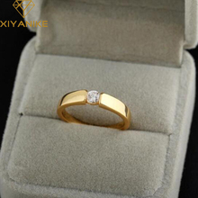 High Quality Lovers Engagement Ring Classic Tension Rose Gold Filled Rings Women Men Wedding Jewelry XY-R355