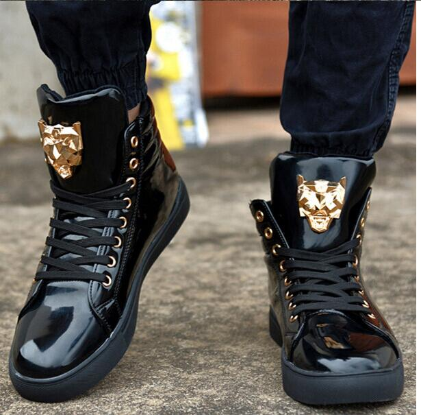 2017 New Autumn Man High Help Shoe Fashion Wolf Metal Sign Of High Quality PU And Vice Versa Leisure Mens Shoes Free Shipping<br><br>Aliexpress
