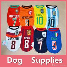 NEW Puppy Pet Dog Vest Small Dog summer clothes T-shirt apparel costume Sport Football shirt With Nomber(China)