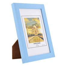 ZUCZUG Blue DIY New 6 Inch Vintage Retro Colorful Paper Desktop Photo Frame Creative Picture Frame for Home Decoration(China)