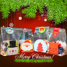 Christmas Cookie Cellophane Bags Cake Cookies Wrappers -Snacks,Party, Favor,Gift, Wedding, Bread Handmade Plastic Bag 100pcs/lot