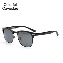 Colorful Caveolae  Sun Glasses Polarized Man Fashion UV400 Name Brand Sunglasses Men Casual  Driving Glasses  Male