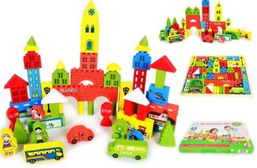 Montessori Kids Toy Baby Toys Old Castle Builing Wooden Colorful Block Learning Educational Preschool Training Brinuedos Juguets<br><br>Aliexpress