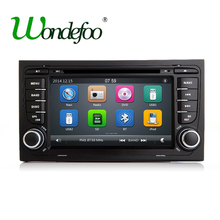 2 DIN car DVD GPS for Audi A4 S4 2002-2008 with dvd player Radio navigation Audio multimedia capacitance touch screen stereo USB