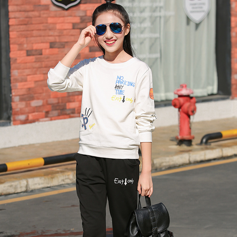 Tracksuit Girls Sports Suits Teen Girl Clothing Sets 2018 Spring Autumn Girls Casual Outfit Clothes 10 12 14 16 Years<br>