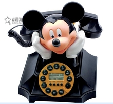 Mickey and Minnie fashion house old telephone Caller ID telefones para casa landline phone telefono fijo  home phone