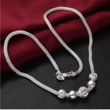 Collier Silver Long Necklace Women Fashion Jewelry Mesh Chain Necklaces & Pendants