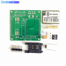 Free Shipping M590E GSM GPRS Module 900m-1800m SMS Message Diy kits M590 Standard AT Instruction Set CPU MCU Test 5V 50mm*50mm