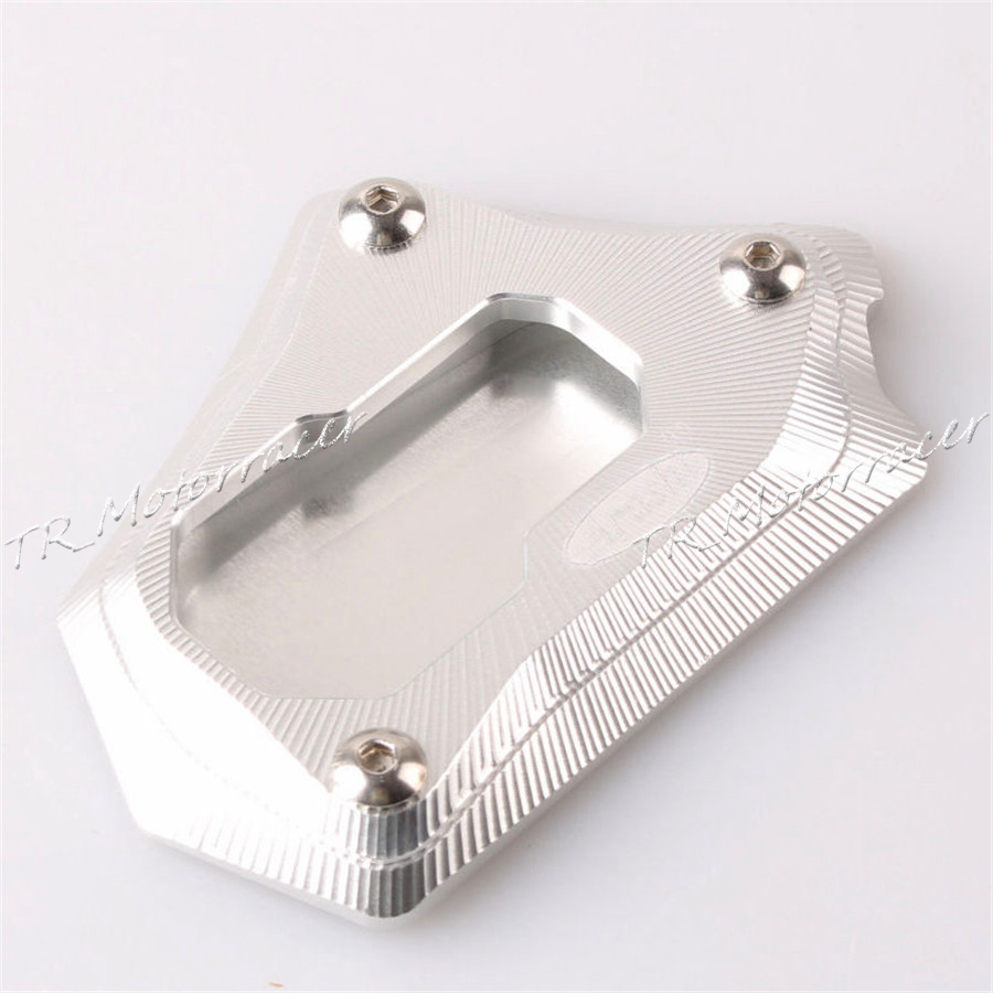 New Motorcycle Side Stand Kickstand Extension Foot Plate Pad For BMW R1200GS 2013 2014 Silver<br>