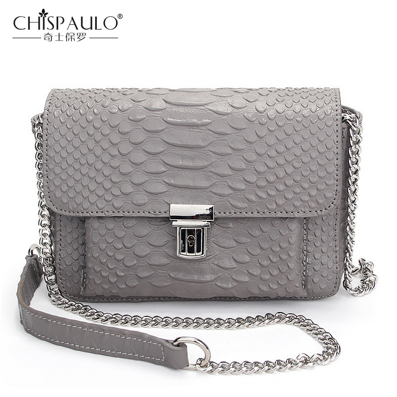 Alligator Genuine Leather Chains Shoulder Bags Fashion Women Messenger Bags Famous Brand Crossbody Bag Crocodile Luxury Handbags<br>