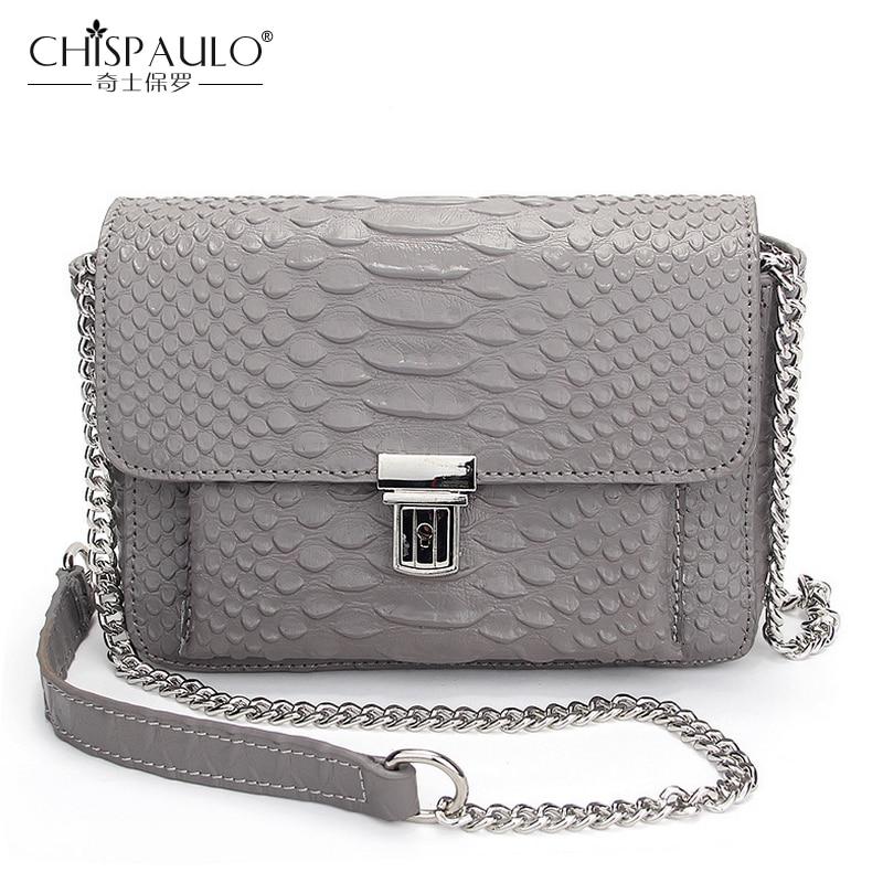 Alligator Genuine Leather Chains Shoulder Bags Fashion Women Messenger Bags Famous Brand Crossbody Bag Crocodile Luxury Handbags<br>