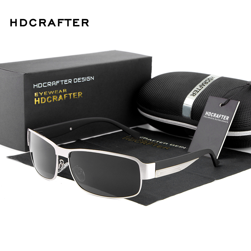 HDCRAFTER Fashion Driving Sun Glasses for Men Polarized sunglasses UV400 Protection Brand Design Eyewear High Quality Oculos<br><br>Aliexpress