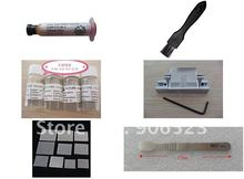free shipping reballing kit with completely universal stencils plugs solder ball and solder paste(China)
